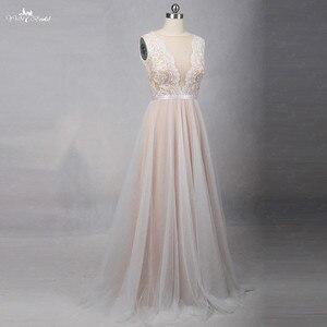 Image 2 - RSW1257 Illusion Back Neckline Cheap Simple Wedding Dress Beach