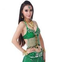 Green Belly Dance Tops Indian Belly Dance Costumes Sexy Belly Dance Clothing Belly Dance Bra
