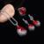 Moda Jóias Gota de Água Vermelha E Preto Rhinestone Chama Forma Do Vintage de Prata Banhado A Conjuntos de Jóias Turco parure bijoux femme