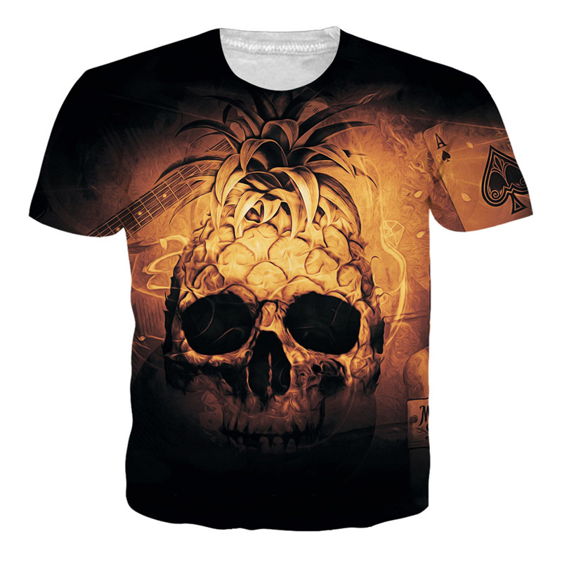 Mans T-shirt Fathers Day Comfortable Top Marcelo Burlon T Shirt Pineapple Shirt Skull Compression Spain Shirt T-Shirt Dropship