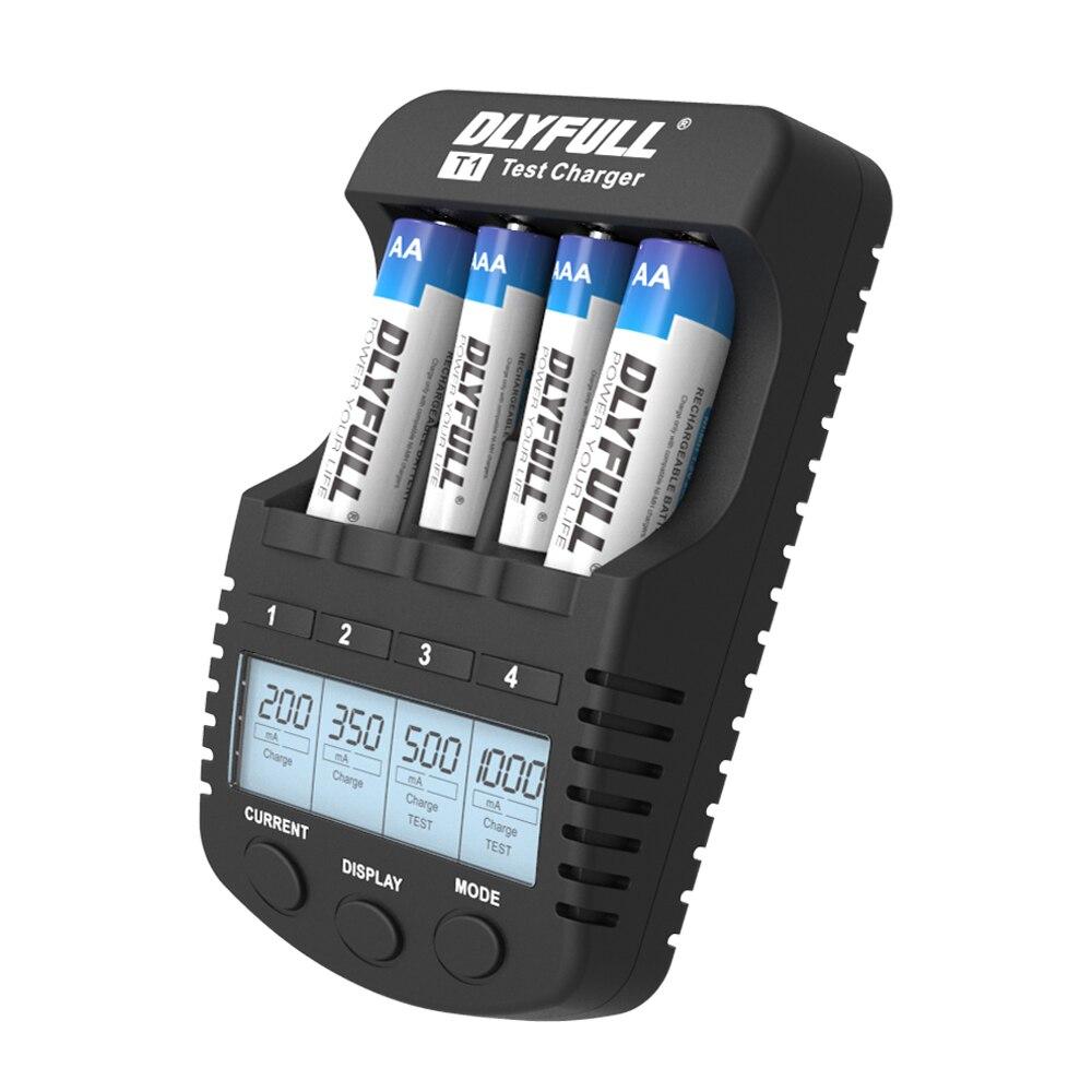 DLYFULL t1 cargadores de batería para baterías aa inteligente LCD cargador de Ni-MH Ni-CD AAA AA cargador de batería recargable