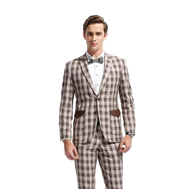 DAROuomo Casaco e Calças de Terno Homens Mens Grade (Só Aceitamos Serviço Personalizado Sob Medida)