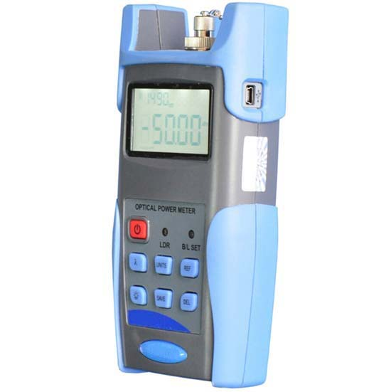 FF-3216A Handheld Optical Power Meter -70 To +6 DBm, FC/SC/ST Connectors, Can Save & Download Testing Records, Support SM & MM