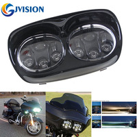 Black 7 Inch Motorcycle Projector Day Maker Dual LED Headlight For Harley Davidson Daymaker Road Glide