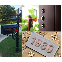 "10cm 4"" Self Adhesive Door Numbers House Address Door Number Signs for DIY Hotel Apartment Home Street Number Wall Sticker(China)"