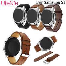 22mm leather watchband for Samsung Gear S3 smart watch Band bracelet for huami amazfit stratos 2 2S Strap with buckle 46mm band цены онлайн