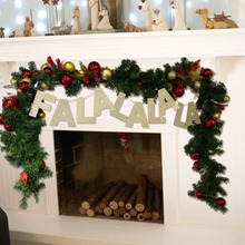 FALALALALA Glitter Gold Letter Banner Christmas Paper Garland Bunting Photo Prop Xmas Home Mantle Fireplace Decor