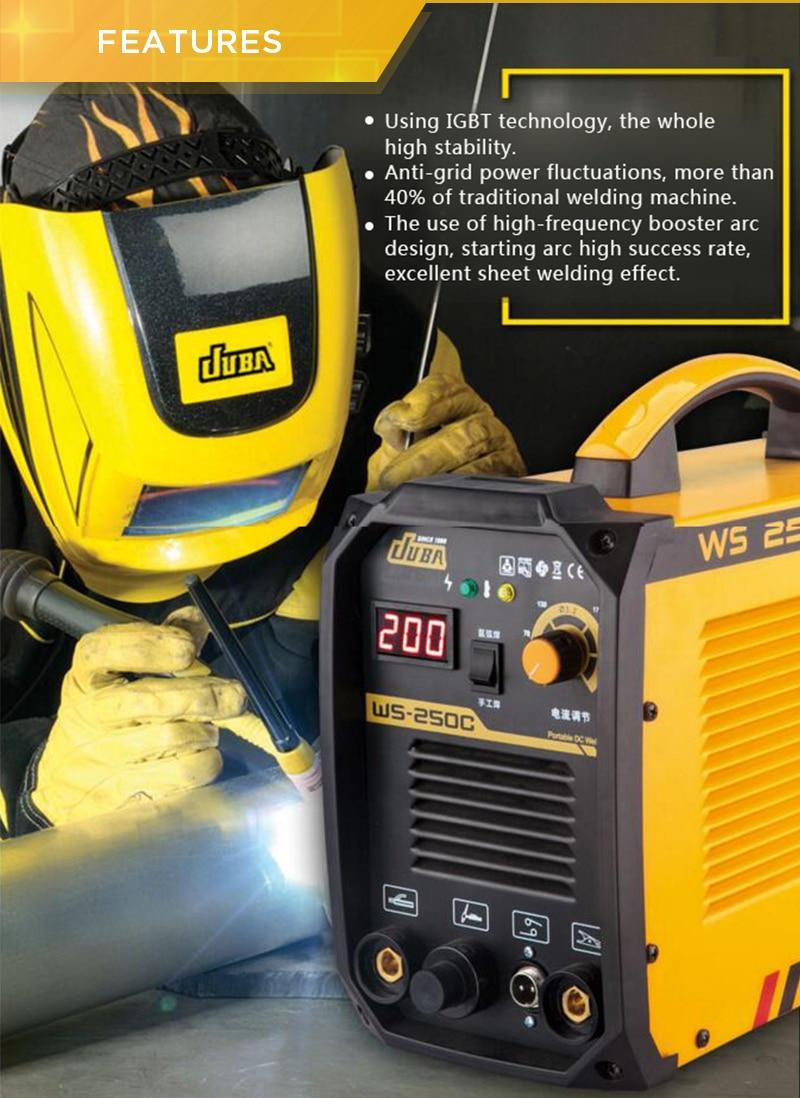 Kostenloser versand Großhandel Neueste Design JUBA WS 250 Inverter-schweißgerät TIG/MMA Schweißen Argon TIG Schweißer