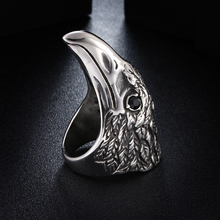 Men Eagle Rings Beak Cocktail Gold Color Stainless Steel Jewelry Rock Punk Unique Hot Big Vintage Ring Male vnox rock punk men s cocktail ring vintage silver tone rings for men anel masculino turkish male jewelry