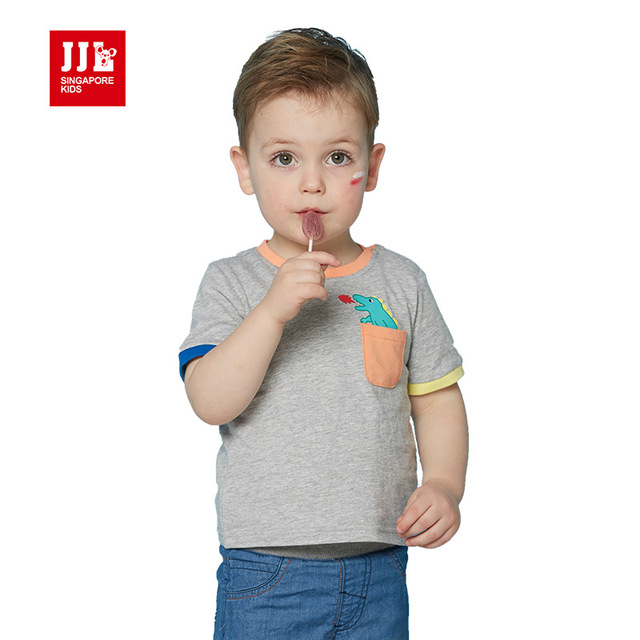 baby boys cartoon t shirt short sleeve 3M infant summer tops baby clothes dinosaur baby tshirts unisex  toddler clothes