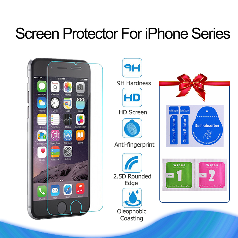 for iPhone X XS Max XR Screen Protector Tempered Glass