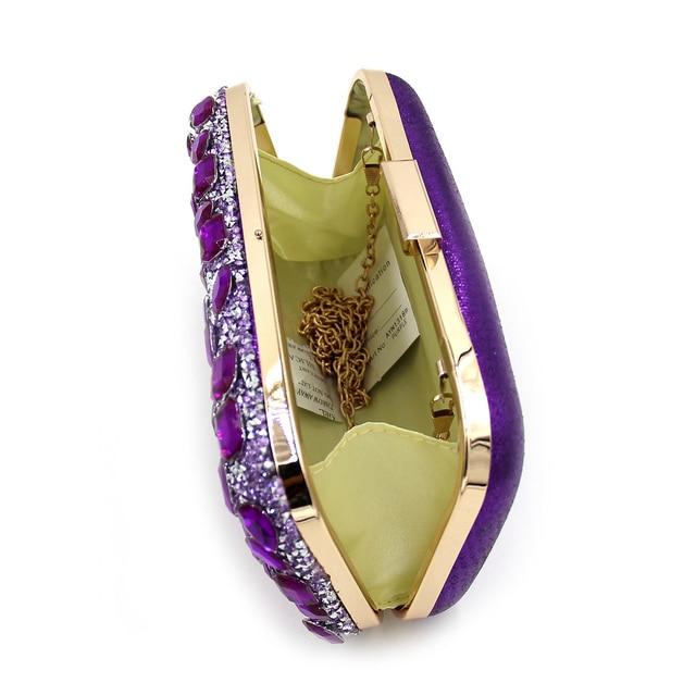 Milisente Women Evening Bag Gold Clutches Bags Blue Party Silver Wedding Party Purple Clutch Purses