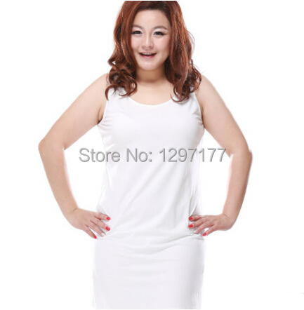 US $51.5  Women clothing white dress Plus size sleeveless tank dress female  fashion simple casual summer dresses top XL~6XL WP 023-in Dresses from ...