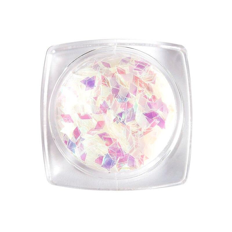 1 коробка Блестки для нейл Арта(искусство украшения ногтей) 11 Цвета ромб Аврора Блестящий Маникюр наклейки 3D прелести блеск Пластик лист для DIY Nail BG151-BG161 - Цвет: BG155