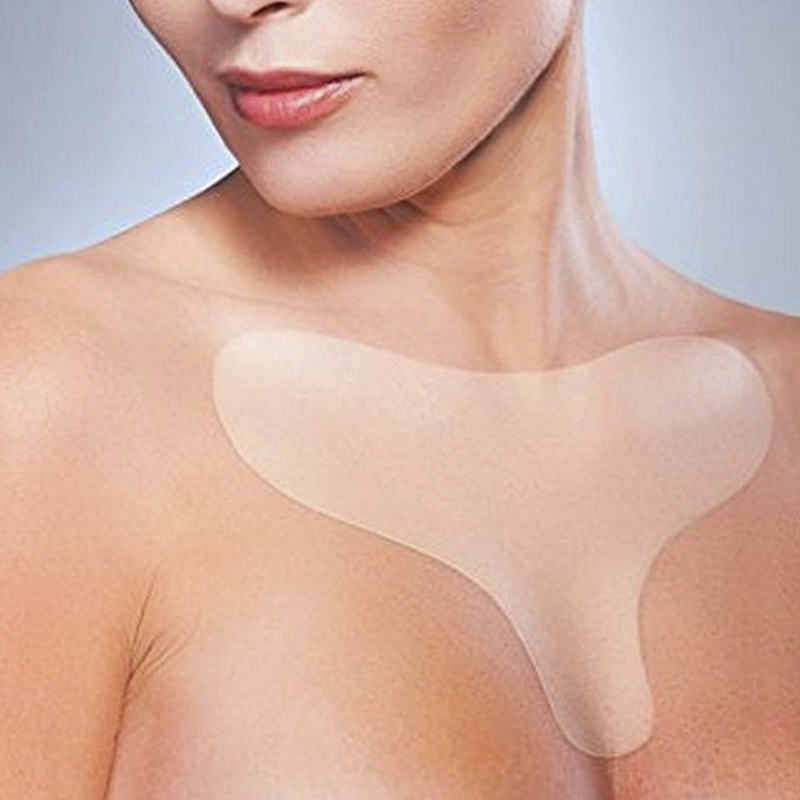 Reusable Anti Wrinkle Chest Pad Silicone Transparent Removal Patch Face Skin Care Anti Aging Breast Lifting Chest Patch Flesh(China)