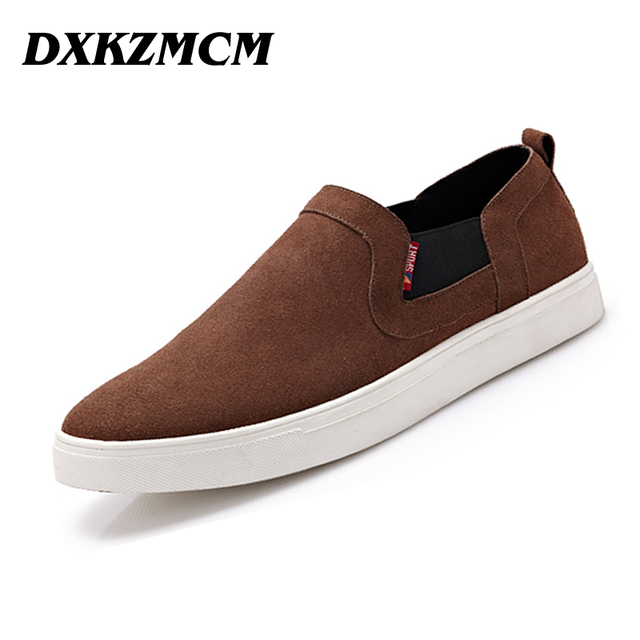 DXKZMCM Handmade Men Loafers Genuine Leather Casual Shoes Retro Men Flats Oxford Shoes For Men Moccasin Driving Shoes