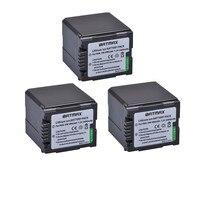 Batmax 3pcs 7.2v 2600mAh VW VBG260 Battery VW VBG260 VWVBG260 Camera Battery For Panasonic HS250 SDR SD7 HDC MDH1 HDC SD1 HDCSD3