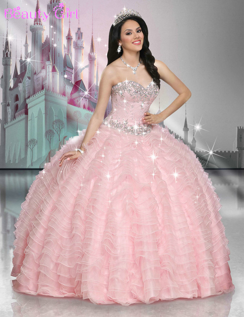 Beautiful Quinceanera Dresses Pink Beaded Sweetheart ... | 800 x 1040 jpeg 176kB