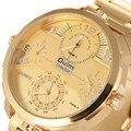 Oulm marca top homens de negócios masculino relógio casual aço completa quatro movimento de pulso de quartzo relógios de luxo relogio masculino