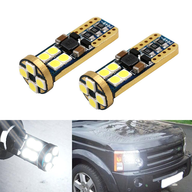 2x T10 3030 SMD 12 LED W5W Parking Lamp Clearance Light For Land Rover v8 discovery 4 2 3 x8 freelander 2 defender A8 a9