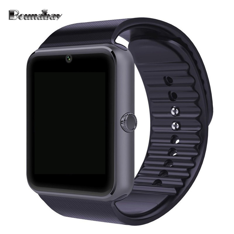BOUNABAY Analog Display Bluetooth 4.0 Smart man sport watch for man's android phone Camera men Clock Touch Screen men's Clocks