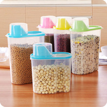 HOT Plastic Cereal Dispenser Storage Box Kitchen Food Grain Rice Container Kitchen Flour Grain Rice Storage Box MDD cheerios multi grain cereal 9 ounce boxes pack of 4