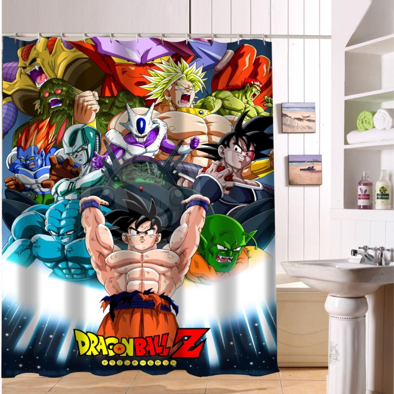 F516XY3 Custom Dragon Ball Z Goku And Gohan Anime Fabric Modern Shower Curtain Bathroom Waterproof LF2 In Curtains From Home Garden On