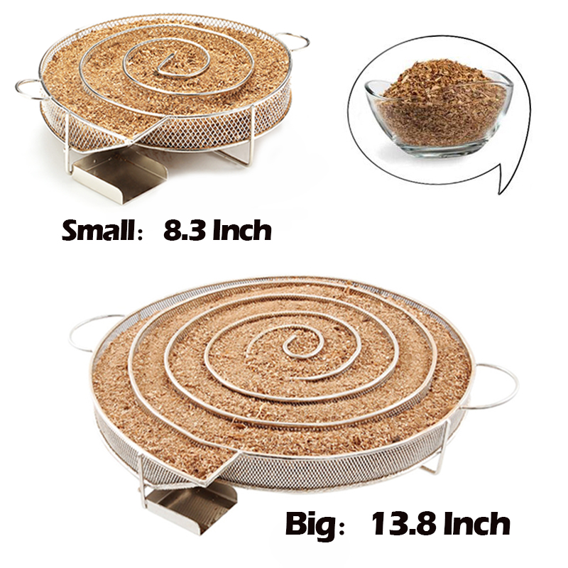 13.78 inch Cold Smoke Generator for Smoker BBQ Grill Cold Smoke Generator Stainless Steel Smoker Wood Pellet Kitchen Supplies