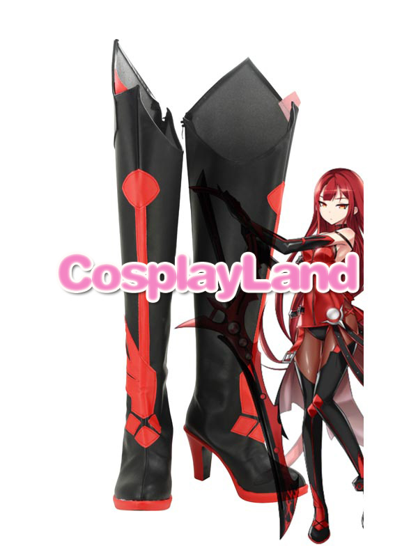 ELSWORD Elesis Brimson Avenger Cosplay Boots Shoes Anime Party Cosplay Boots Custom Made Women High Heel Shoes стоимость