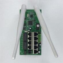 OE6 9 poort draadloze router moederbord módulo personalizado schroef gat metalen shell breedband snelle thuis kit 2.4g draadloze