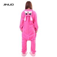 Kigurums Women Adults Animal Rose Red Lapin Lovely Rabbit Footed Pajamas Onesie Cosplay Pyjamas Animal Onesies