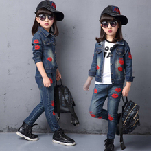 Spring Kids Clothes Girls Sets Children 2 Pieces Suit Jackets Coat Tops+Pants Baby Set Girlsl  Autumn Jacket Suit For 3-12T 3t 4 6 8 10 12 yrs spring kids clothes girl sets children fashion 2 pcs suit jackets coat tops pants baby set girls cool suit
