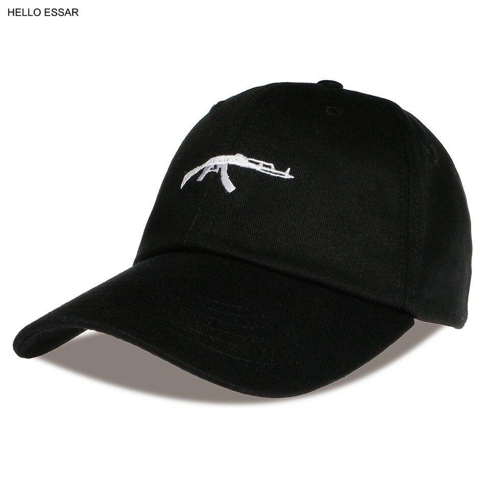Sombrero de béisbol con diseño de pistola Simple para hombre y mujer, gorra de béisbol de Color puro, a la moda, mejor cosecha, de viaje, CP1056
