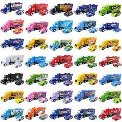 Модель автомобиля Disney Pixar «Тачки 2 3» 1:55, литая Металлическая машинка Молния Маккуин, Джексон шторм, Мак, дядюшка, детская игрушка, 2 шт./компл.