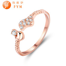 Fashion Jewelry Womens Heart Finger Ring Luxury AAA Cubic Zirconia Stone Rose Gold Color Wedding Bands Jewelry for Women brand new womens luxury special rings romantic rose gold color fashion style ring with aaa cubic zircon stone for wedding