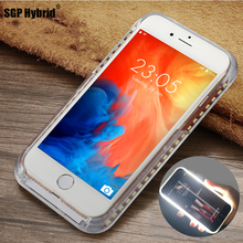 Case For iPhone 6 6S 7 Plus 5 s X Flash Selfie Light Up Glowing Luxury Phone Case For Apple i Phone 7s 6s 5s plus iphoneX Cover цены