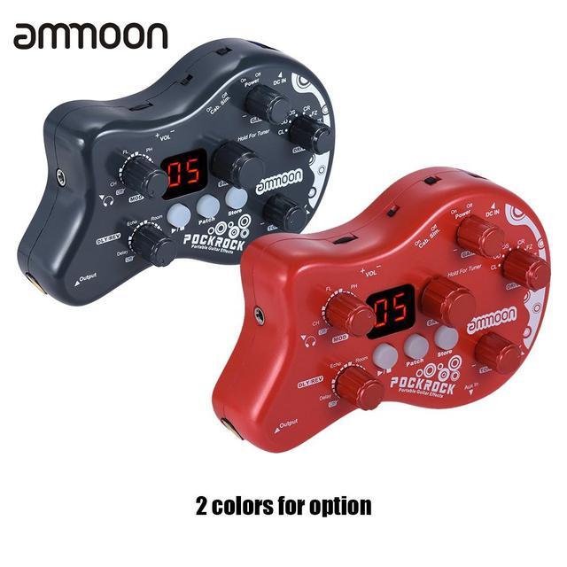 Ammoon PockRock гитарная педаль мульти-эффектов процессор гитарная педаль эффектов 15 эффектов адаптер питания аксессуары для гитары