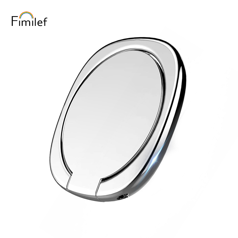 Fimilef 180 Degree Universal Phone Finger Ring Holder Stand For IPhone X 7 6 Plus Samsung Xiaomi Smartphone Tablet Plain Bague