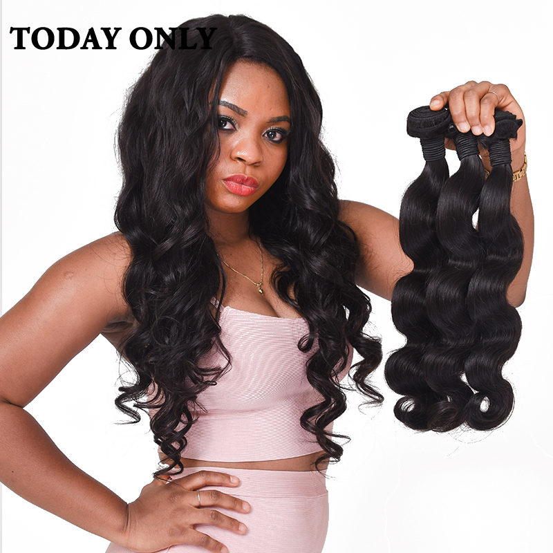 Today Only Peruvian Body Wave Bundles 100 font b Human b font font b Hair b