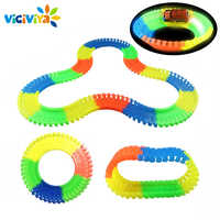 240 pieces Glowing Car Racing Track Glow in the dark