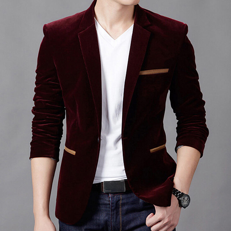 Bigsweety Coat Men Jacket Slim-Fit Autumn Corduroy Smart Casual High-Quality 3XL Spring