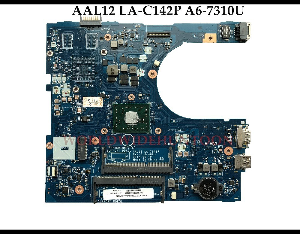 High Quality MB CN 0THKRW For Dell Inspiron 5555 5755 Laptop Motherboard AAL12 LA C142P 0THKRW