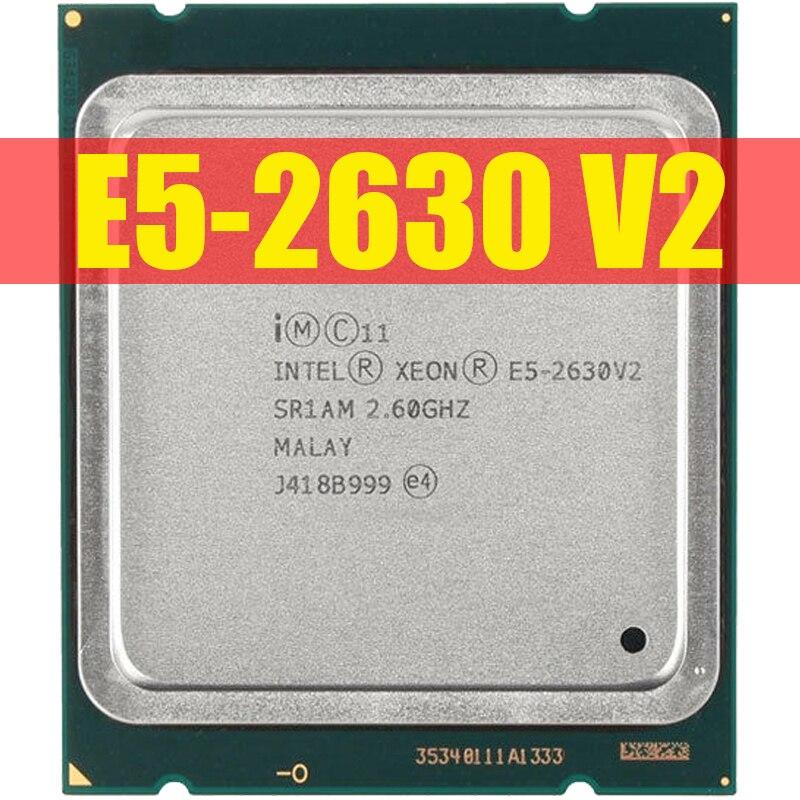 Оригинальный серверный процессор Intel Xeon E5 2630 V2 SR1AM 2,6 ГГц 6-ядерный 15 Мб LGA2011 Стандартный ЦПУ 100% нормально работающий