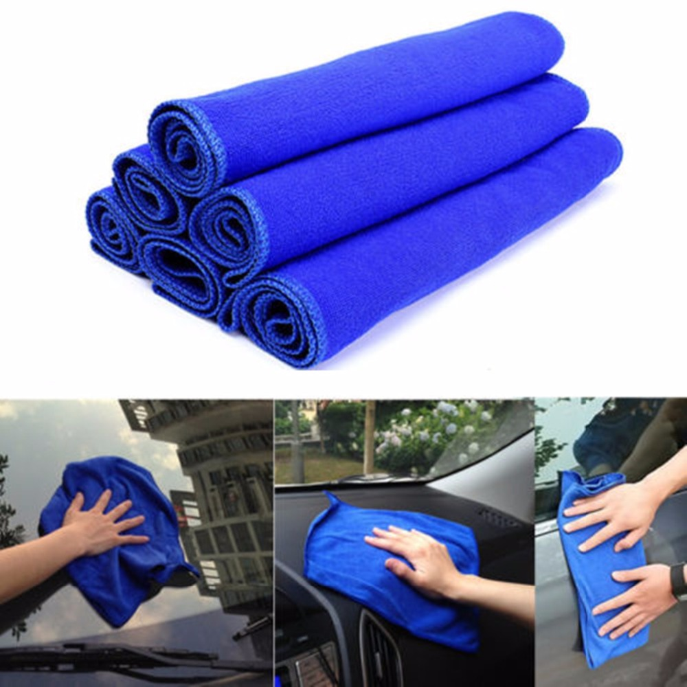 Car-styling Blue Absorbent Wash Cloth Car wash Auto Care Microfiber Cleaning Towels Polishing Detailing Towels
