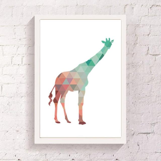 Colorful Giraffe Art