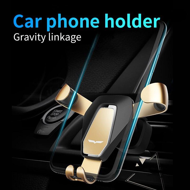 Sostenedor del teléfono del coche gravedad ángulo dispositivo de ventilación Teléfono de navegación apoyo iPhone7 Samsung para Xiaomi Universal