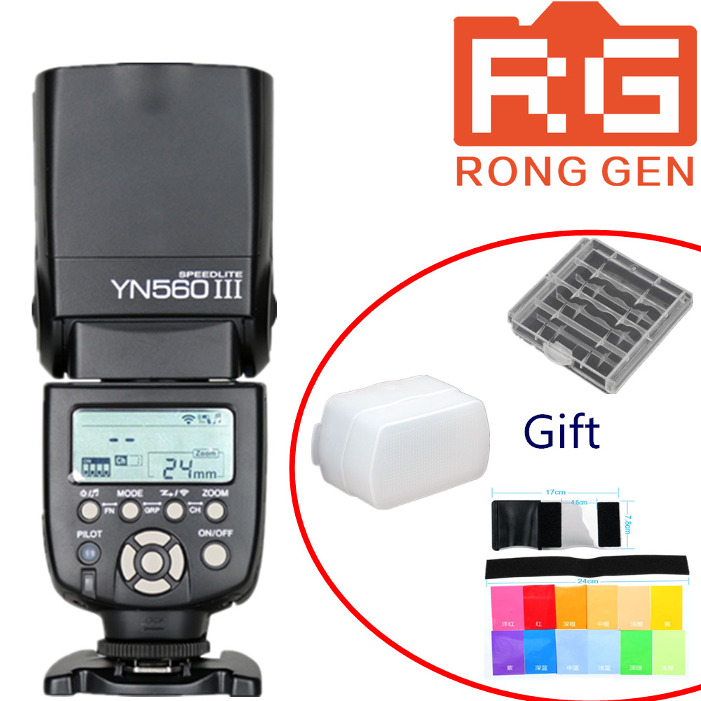ФОТО Yongnuo YN-560III YN-560 iii YN 560 III 2.4GHz Wireless Trigger Speedlite Flash For Canon Nikon Free Shipping with