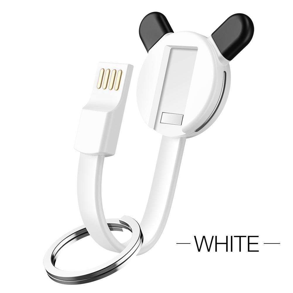 Image 3 - 3 in 1 New Bear Keychain Charging Cable Data Cable Data Transmission Charging Data Cable For Ios Android TYPE C Portable-in Data Cables from Consumer Electronics