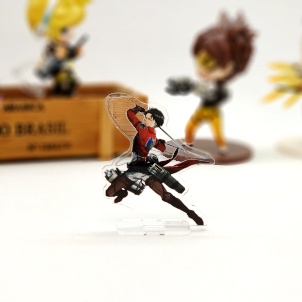 Love Thank You Attack on Titan Levi Rivaille SMALL acrylic stand figure model plate holder cake topper anime cool