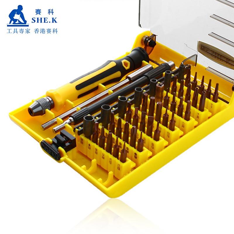 45 In 1 Precision Screwdriver Set Multifunctional Magnetic Screwdriver for Mobile Phone Computer Electronic Repair Bit Tools Kit